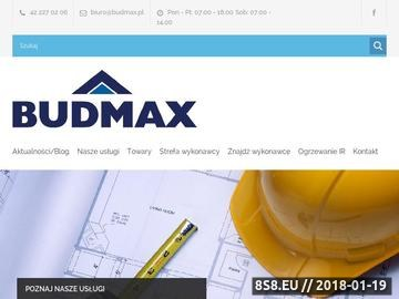 Zrzut strony Budmax Pabianice - Materiały budowlane i wykończeniowe
