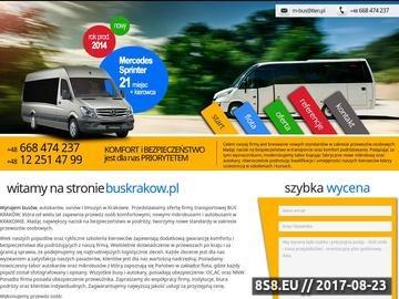 Zrzut strony Wynajem busów Kraków
