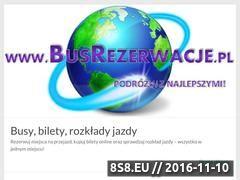 Miniaturka busrezerwacje.pl (Busy, bilety rezerwacje i rozkład jazdy busów)