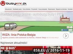Miniaturka busy-krk.pl (Rozkład jazdy busów do Krakowa)
