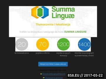 Zrzut strony Biuro tłumaczeń Busyb Warszawa