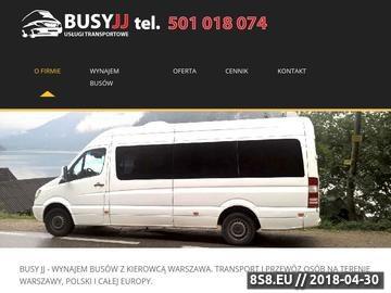 Zrzut strony Busy z kierowcą - wynajem Warszawa