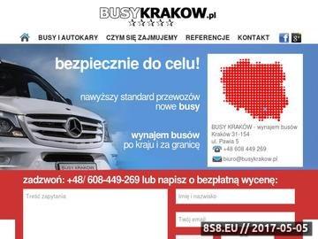 Zrzut strony Busy Kraków