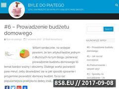 Miniaturka byledopiatego.pl (Blog o finansach osobistych i oszczędzaniu)