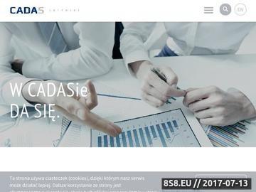 Zrzut strony CADAS Software internetowe platformy typu Klient-Serwer