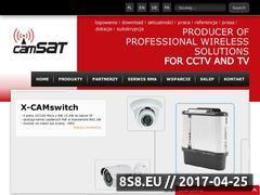 Miniaturka camsat.com.pl (Systemy do transmisji dla kamer bezprzewodowych)
