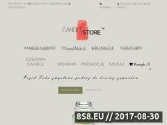 Miniaturka candlestore.pl (Strona internetowa ze świecami zapachowymi)