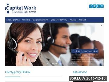 Zrzut strony Dofinansowanie PFRON - Capital Work