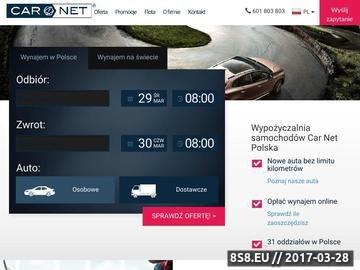 Zrzut strony Wypożyczalnia samochodów w Krakowie