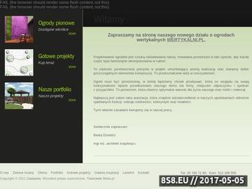 Zrzut strony Projektowanie ogrodów Warszawa