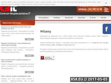 Zrzut strony CBIT.pl - Centrum Bezpieczeństwa IT