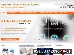 Miniaturka domeny www.centrumdiagnostykiobrazowej.pl