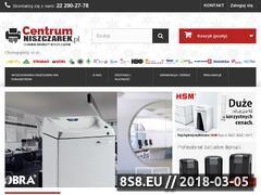 Miniaturka centrumniszczarek.pl (Niszczarki biurowe do dokumentów)