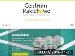 Miniaturka centrumrakietowe.slupsk.pl (Gra w tenisa - szkolenia)