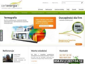 Zrzut strony Termografia - CertEnergia.pl