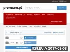 Miniaturka domeny certyfikatgost.pl