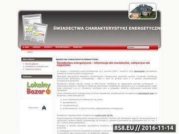 Zrzut strony ŚWIADECTWA CHARAKTERYSTYKI ENERGETYCZNEJ