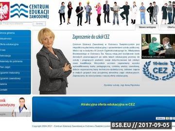 Zrzut strony Centrum Edukacji Zawodowej w Ostrowcu Świętokrzyskim