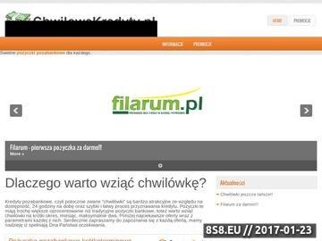 Zrzut strony Kredyty gotówkowe przez Internet