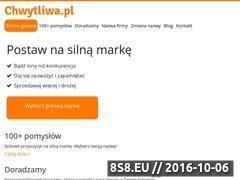 Miniaturka www.chwytliwa.pl (Chwytliwe pomysły na brand dla firmy i portalu)