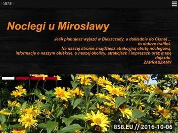 Zrzut strony Cisna - noclegi u Mirosławy