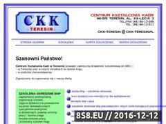 Miniaturka domeny www.ckk-teresin.pl
