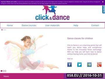 Zrzut strony Kurs tańca Kinect