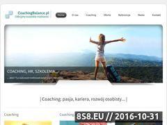 Miniaturka domeny www.coachingbalance.pl