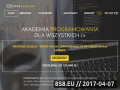 Miniaturka codeacademy.pl (Szkolenia informatyczne)