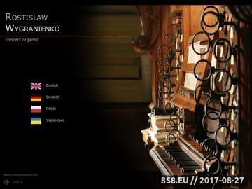 Zrzut strony Rostislaw Wygranienko, concert organist