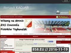 Miniaturka concordiapiotrkow.futbolowo.pl (Nieoficjalna strona kibiców klubu Concordia Piotrków)