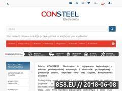 Miniaturka consteel-electronics.com (Profesjonalna automatyka przemysłowa)