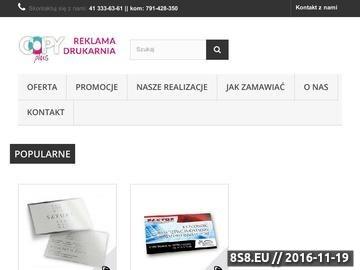 Zrzut strony Druk online, składanie zamówień, druk cyfrowy oraz druk solwentowy