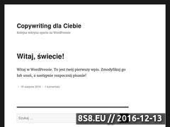 Miniaturka domeny www.copywriting.biz.pl