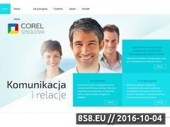 Miniaturka corelszkolenia.pl (Profesjonalne szkolenia z komunikacji)