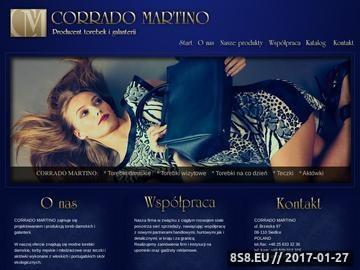 Zrzut strony Corrado Martino - producent torebek i galanterii