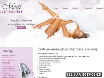 Zrzut strony Depilacja laserowa Łódź - Megi Cosmetic Laser