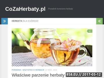 Zrzut strony Właściwości herbaty