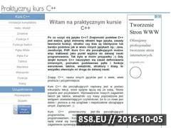 Miniaturka cpp.jcom.pl (Kurs C++ dla początkujących z zadaniami)