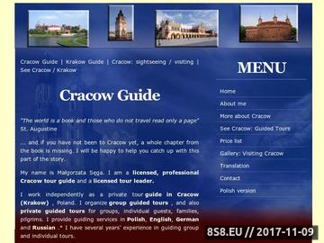 Zrzut strony Przewodnik Kraków - Cracow Guide Margaret - Przewodnik po Krakowie - See Cracow/Kraków