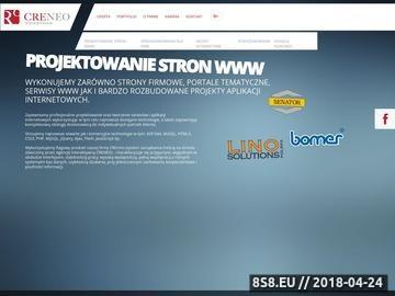 Zrzut strony Agencja interaktywna Creneo