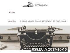 Miniaturka creospace.pl (Copywriting, teksty na stronę i pisanie tekstów)