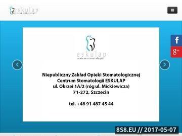 Zrzut strony Eskulap E. Ignaczak klinika stomatologiczna Szczecin