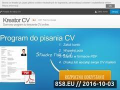 Miniaturka Program do tworzenia CV online (www.cv-kreator.pl)