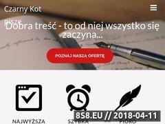 Miniaturka czarnykotpisze.pl (Copywriting, tworzenie treści i pisanie tekstów)