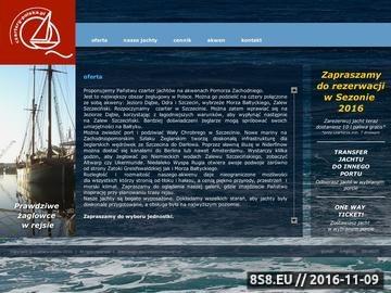 Zrzut strony Czartery jachtów na Zalewie Szczecińskim, czarter Szczecin, czarter Bałtyk