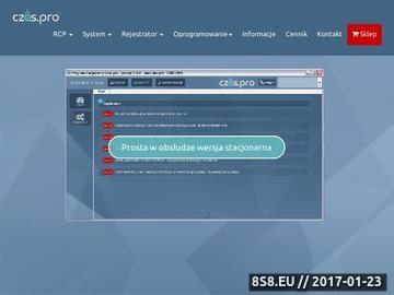 Zrzut strony Nowoczesny system rejestracji czasu pracy.