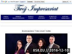 Miniaturka czteryczwarte.twoj-impresariat.pl (<strong>kwartet</strong> smyczkowy Cztery czwarte)