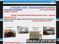Miniaturka www.czyszczenie-karcherem.pl (Pranie kanap)