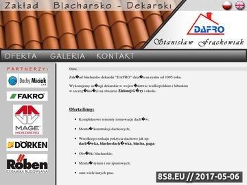Zrzut strony Profesjonalne usługi blacharsko-dekarskie